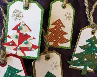 Christmas tree gift tags - Set of 5
