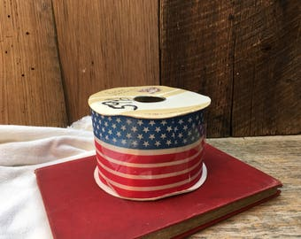 "Vintage Independence Day Ribbon/America/3"" Wide/40 YDS/NOS"
