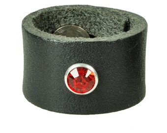 "Leatherring ""swarovski"""