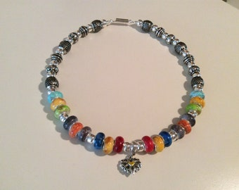 Rainbow hippy necklace