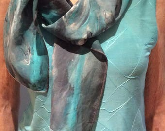 SEAFOAM silk scarf - Silk scarf in SEA FOAM