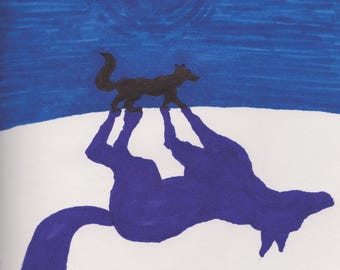 Print: Coyote Casts A MoonShadow