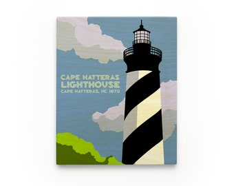 Cape Hatteras Lighthouse Art Block, North Carolina Lighthouse Art