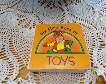 My First Book Of Toys Landoll Inc Vintage Board Book Mini Child's Book