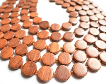Charlotte - Bayong Wood Multi Strand Statement Necklace