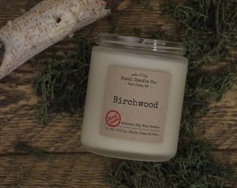 Birchwood Scented Candles, Eco Friendly, Vegan Soy Candle, Essential Oil Soy Candles, Vegan Gift, Wedding Gift, Gift for Her, Gift for Him