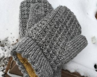 Honey lined waffle mitten knitting pattern
