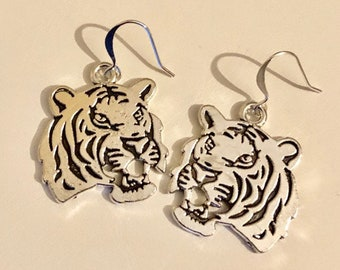 School Spirit Tiger Earrings