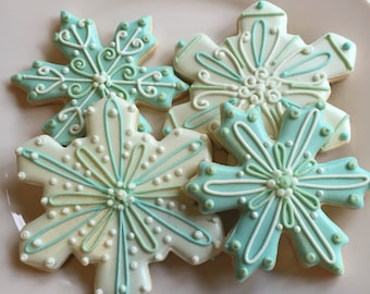Snowflake Decorated Sugar Cookies-1 dozen