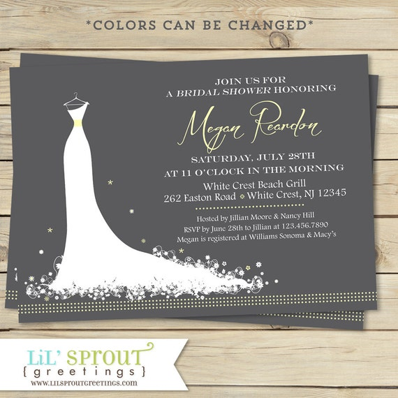 Elegant Bridal Shower Invitation Modern Bridal Shower