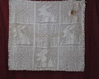 Vintage 1930's crochet child's blanket
