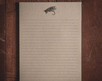 Large Fly Fish Notepad - 8.5x11 inches