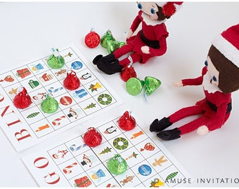 Christmas Bingo, Elf Bingo, Christmas Elf Accessories, Santa's Elf Prop, Elf Printable, Christmas Elf Ideas, Holiday Elf Kit, Easy Elf Ideas