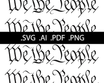We The People vector - SVG and other formats