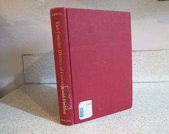 A Concise History of Costume And Fashion by James Laver, Vintage Hardcover