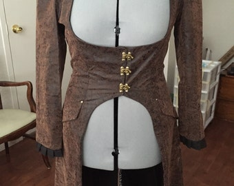 Steampunk Faux Leather Coat