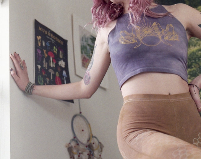 CRYSTAL ALCHEMY Fitted Crop Top