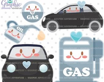 Car Clipart, Car Graphics, COMMERCIAL USE, Kawaii Clipart, Planner Accessories, Gas Clipart, Gas Pump Clipart, Gasoline Clipart