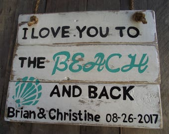 Personalized Wedding sign | beach wedding sign | Wedding sign | Wedding gift | Anniversary gift | Bridal gift | custom beach sign