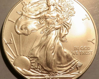 One Silver American Eagle 2014 (MS) 1- oz.