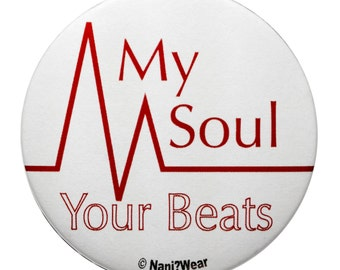 Angel Beats 2Inch Button: My Soul Your Beats