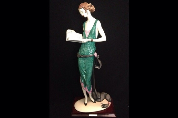FREE SHIPPING-Fabulous-Made In Italy-Giuseppe Armani-384-C-The Book-Limited Edition-1610/5000-Sculpture