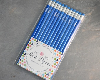 Custom Name Pencils, set of 12 Pencil, Custom Pencils, Gold Foil Pencils, Personalized Pencils, Engraved Pencils, Teacher Gift, Cross Word