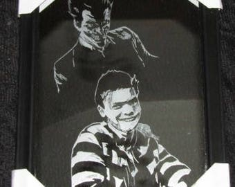 Gotham's Jerome Valeska/Joker on 8x10 mirror