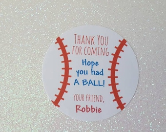 Sports theme shower etsy baseball party stickers favor tags sports gift tags ny yankee theme party baseball negle Image collections