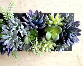 Faux succulent centerpiece, succulent plants, faux succulents, succulent wedding centerpiece, floral arrangement, silk flowers, garden, Gift