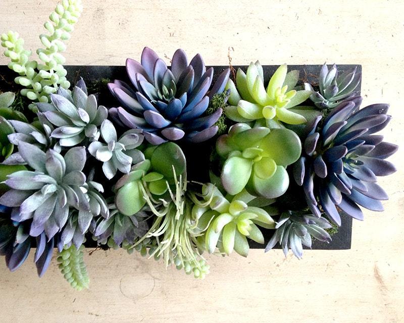 Faux succulent centerpiece plants succulents