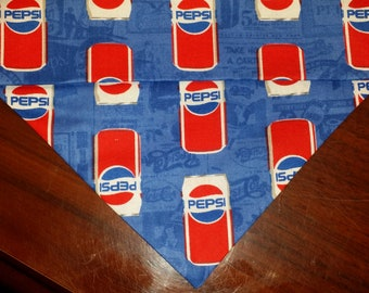 Dog Bandana Made from Pepsi Fabric