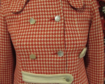 60's Houndstooth Peacoat