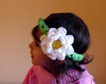 PDF Instant Download Crochet Pattern No 087 Big Flower Headband All sizes