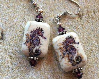 Seahorse Earrings, Beach Earrings, Nautical Earrings, Earrings, Gifts For Her, Seahorse