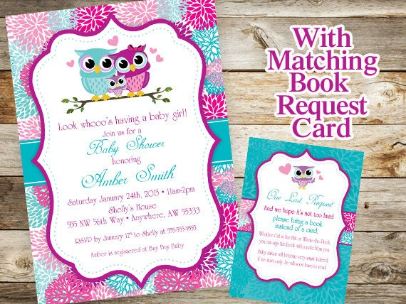 Owl baby shower invitation baby owl invitation spring baby filmwisefo Choice Image