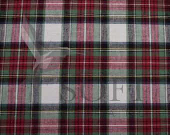 Cotton Flannel Plaid 1 Tartan Fabric by the Yard