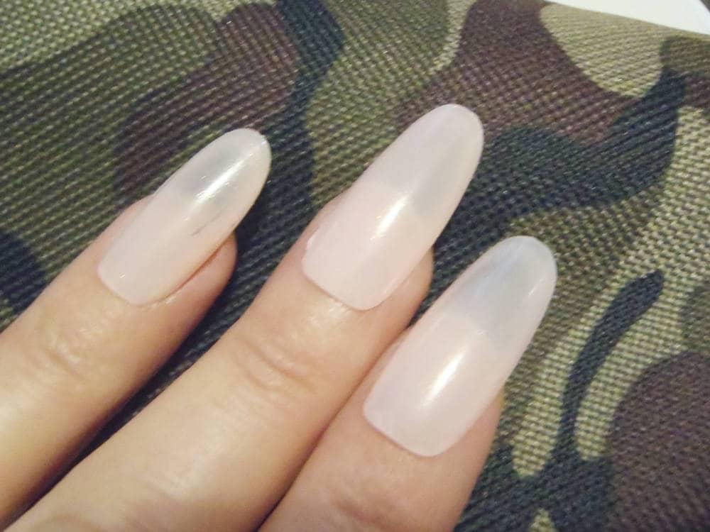 pink long oval false nails wedding bride almond pastel nail wag drag ...