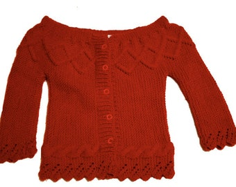 Vest knitting baby Clea