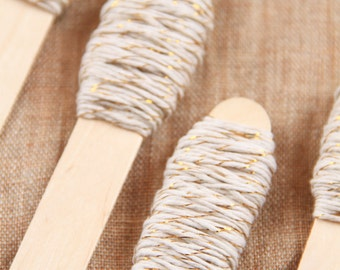 Bakers twine bianco e dorato 9m / 9m of Gold and White Bakers Twine