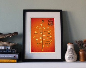 The Tree of Life - science/evolution art print - SMALL or LARGE
