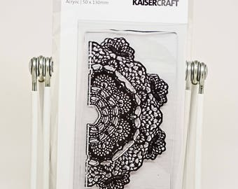 KaiserCraft Background Clear Stamps -- Acrylic -- Doily