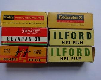 Expired 620 camera films from 1962-1970 lomo lomography film
