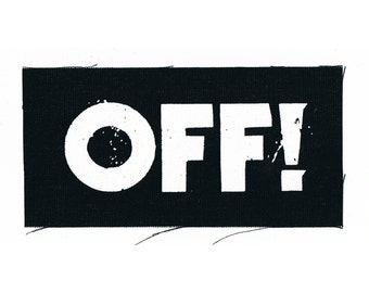 OFF! Punk Band Patch