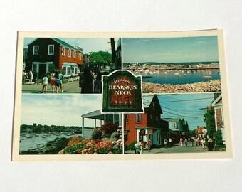 Vintage Postcard Historic Bearskin Neck from Rockport Massachusetts a John Alderson Postcard presented by Donellensvintage