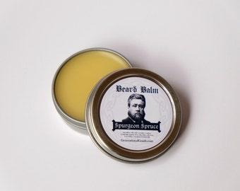 Beard Balm C.H. Spurgeon Spruce One Ounce Tin Woodsy Pine Scent Theologian Series Biblical Beards Generational Goods