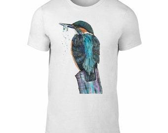 Kingfisher T-Shirt for Men and Women, Kingfisher Tee, Turquoise Kingfisher Clothing Gift, S M L XL by Sophie