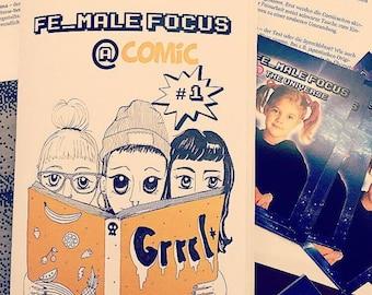 "Hamburger Riot Grrrl fanzine ""Fe_Male Focus @ Comic"" #1"