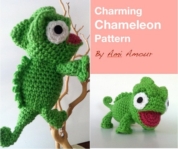 Charming Chameleon Pattern Amigurumi Crochet Pdf From Amiamour On