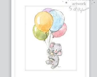 Printable Baby Elephant Art Download Digital Elephant Art